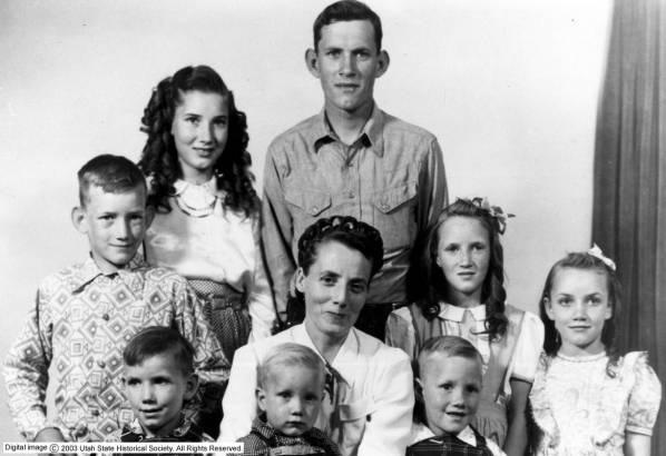 Vera Black with her children